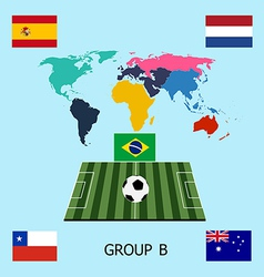 Group b - spain netherlands chile australia vector