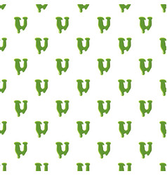 Letter u made of green slime vector