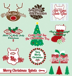 Merry christmas labels vector