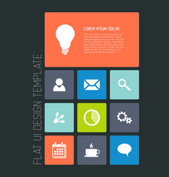Modern mobile phone flat user interface vector