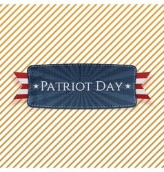 Patriot Day Emblem and Ribbon vector image vector image