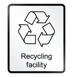 Recycling facility information sign vector