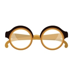 Retro glasses isolated flat icon vector image