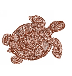 Sea turtle in paisley mehndi style vector image vector image