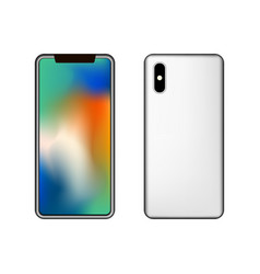 smartphone in front and behind template design vector image