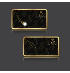 Vip card with an abstract background with a vector image