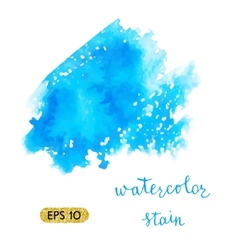 Watercolor colorful stain vector image