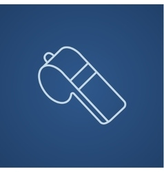 Whistle line icon vector