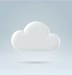 White cloud ove blue vector