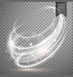 White transparent light effect background vector