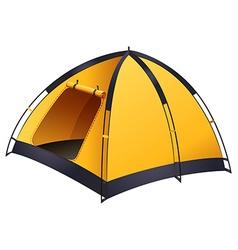 Yellow tent vector