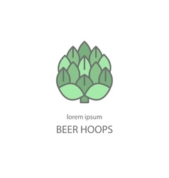 Hop craft beer logo vector