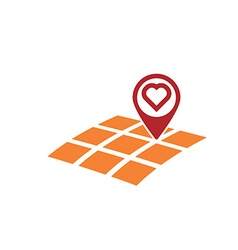 Love gps location vector