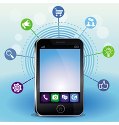 mobile phone with touchscreen vector image