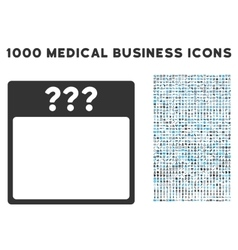 Unknown calendar page icon with 1000 medical vector