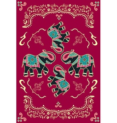 Festive typical indian elephant vector