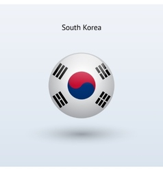 South Korea round flag vector image