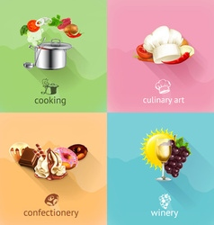 Food concept set vector image