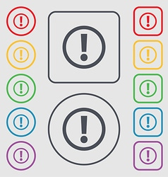 Attention sign icon exclamation mark hazard vector