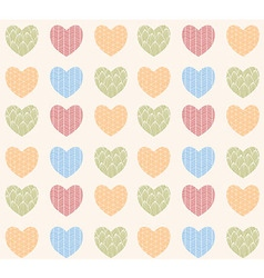 Seamless pattern with ornamental hearts vector