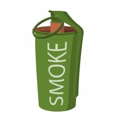 Hand grenade smoke bomb icon vector