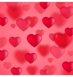 Red valentine hearts background vector