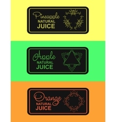 Label for natural juice vector