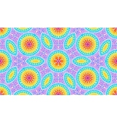 Rainbow colors dotted art seamless pattern tile vector