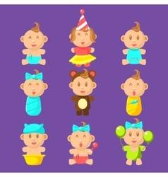 Babies An Toddles Sticker Set vector image