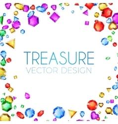 Falling multicolor gems vector