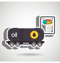 Truck petroleum isolated icon design vector