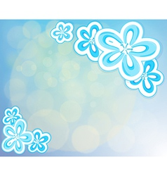 A blue-colored stationery vector image vector image