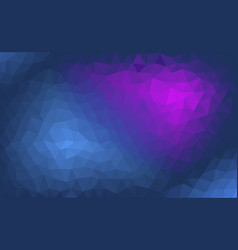 abstract blue and purple polygonal background vector image vector image