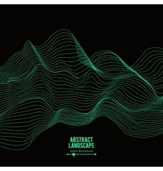 Abstract landscape background array with dynamic vector