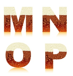 alphabet dark beer mnop vector image vector image