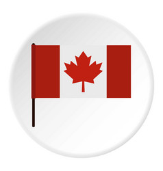 Canadian flag icon circle vector