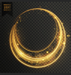 circular transparent light effect with sparkles vector image vector image