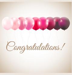 Congratulations card vector