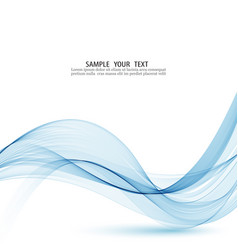 curve flow blue motion smoke blue vector image