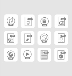 Digital files icon set 2 vector