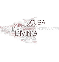 Dive word cloud concept vector