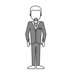 Faceless man wearing businessman suit icon imag vector