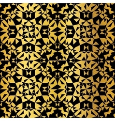 Golden on black abstract kaleidoscope vector