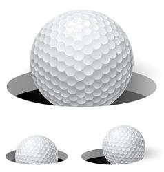Golf balls vector image