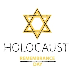 Holocaust remembrance day january 27 vector