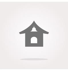 house web icon button Web Icon Art vector image