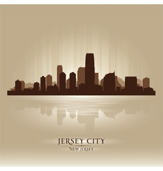 Jersey City New Jersey skyline city silhouette vector image vector image
