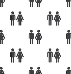 man and woman seamless pattern vector image vector image