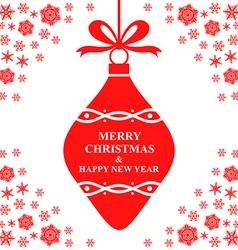 Merry bauble red vector