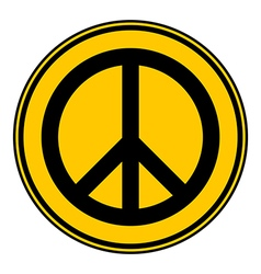 Peace symbol buttom vector